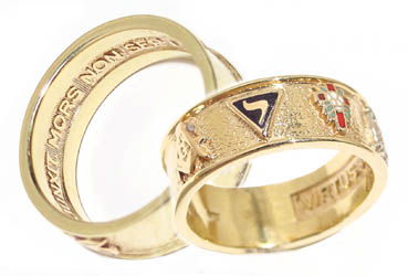A Masonic ring which includes the 14th Degree emblem