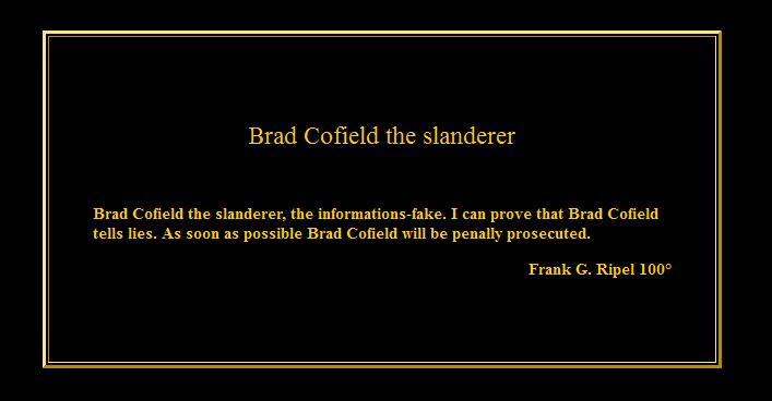 Brad 39 s 1613 nation for Farcical behavior