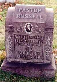 Charles Taze Russell's actual gravestone