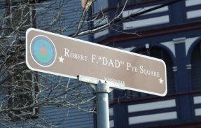"""Dad"" Robert F. Pye Square marker"